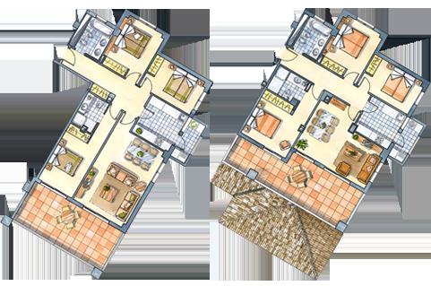 Residencial guardamar hill resort for Planos de pisos de lujo